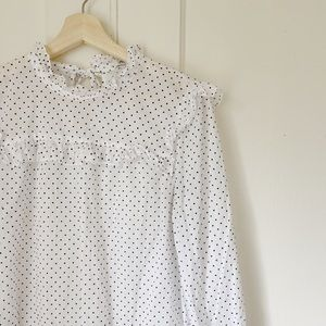 Madewell Polka Dotted Blouse